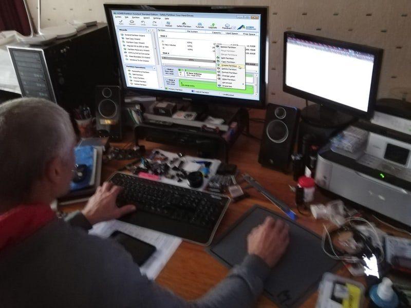 computer service and repair Randfontein - partition hard drive